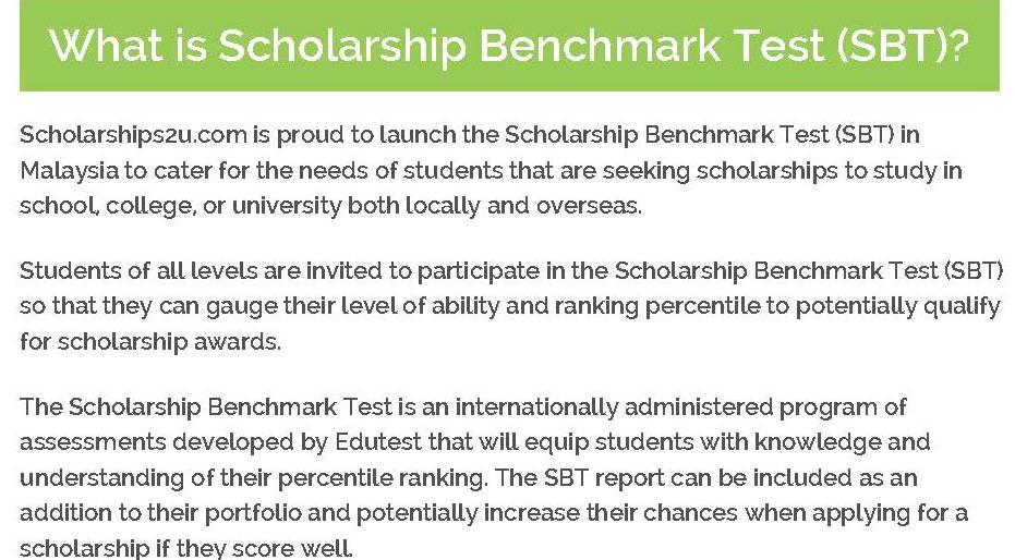 Scholarship Benchmark Test