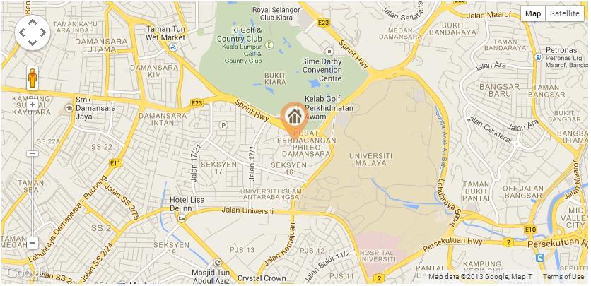ET Education Servicesr Location Map